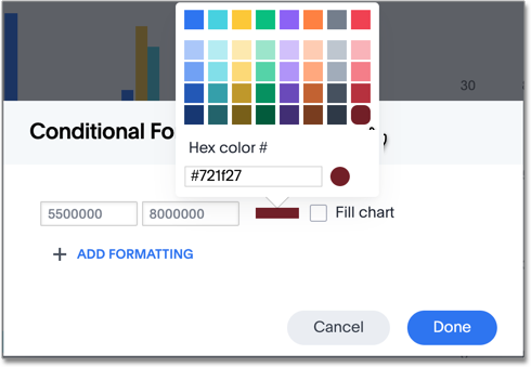 Change conditional format color