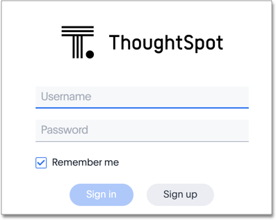 Log in to ThoughtSpot